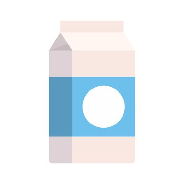 Milk tetra pack icon. Flat illustration of milk tetra pack vector icon for web design
