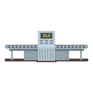 Empty assembly line icon. Flat illustration of empty assembly line vector icon for web design