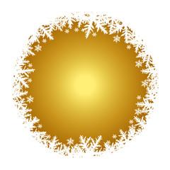 Vektor - Weihnachtlicher Hintergrund - Gold - Schnee - Textfreiraum