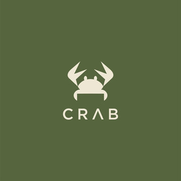 crab logo design template.seafood vector logo design