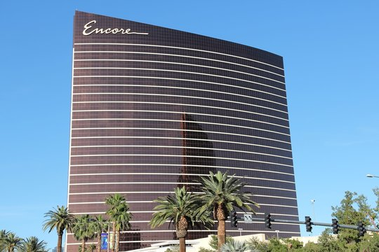 LAS VEGAS, USA - APRIL 14, 2014: Encore resort in Las Vegas. It is one of 20 largest hotels in the world with 4,750 rooms (together with adjacent Wynn).