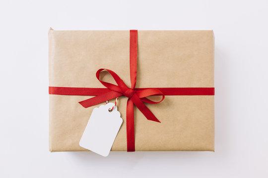 Big gift box with ribbon
