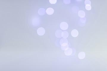 Bokeh lights in blueness