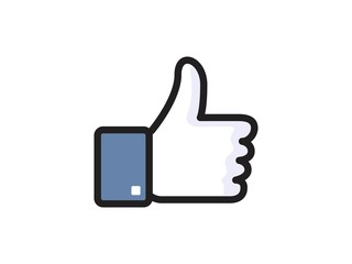 Facebook Like vector icon