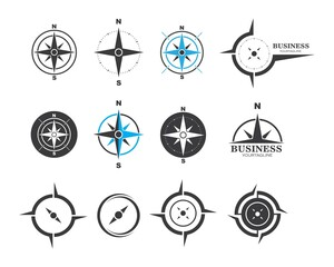 compass logo vector tempate ilustration