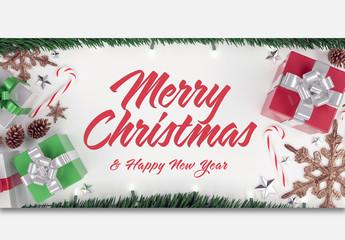 Christmas Scene Text Mockup