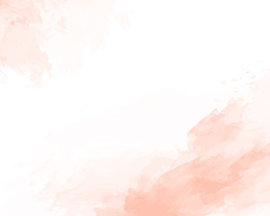 Pink soft watercolor abstract texture. Vector illustration.