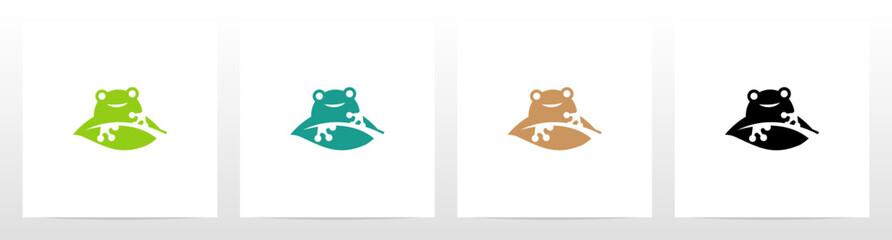 Frog On A Leaf Logo Design