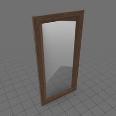 Wooden frame floor mirror