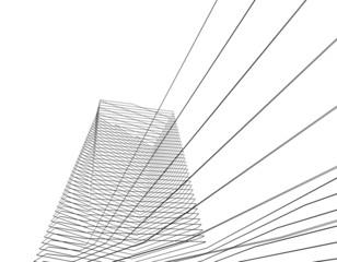 Concept 3d architecture building, vector illustration