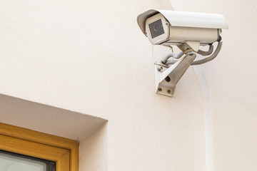 White surveillance camera, face recognition system