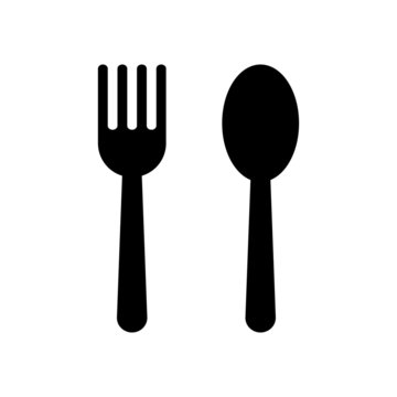 fork and spoon restaurant icon isolated on white background. vector Illustration.