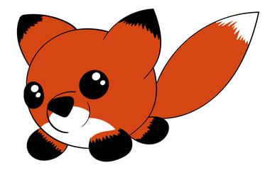 Cute Circular Cartoon Fox