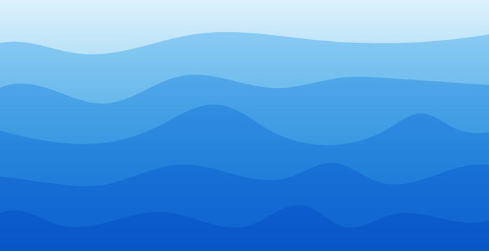 wavy background. flat modern blue wavy background