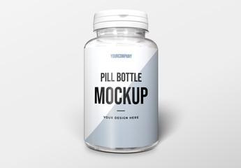 Pill Bottle Packaging Mockup