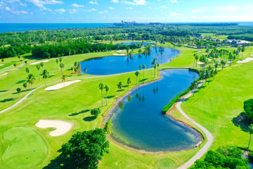 Foto op Plexiglas Lime groen Golf green Miami