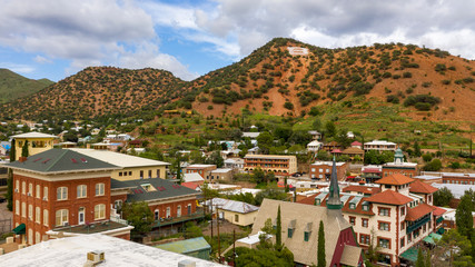 Fotomurales - Over The Downtown City Center area of Bisbee Arizona USA