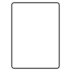 Simple black tablet computer icon isolated on white background