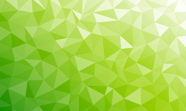 Tropical fresh nature color. Bio texture low poly green background v3 geometric mosaic Ai EPS