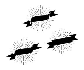 Ribbon sign icon graphic illustration