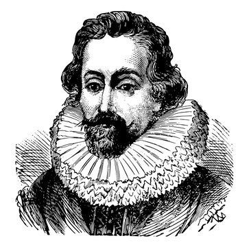 Sir Francis Drake, vintage illustration