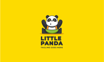 Little panda logo design