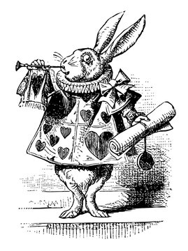 Alice in Wonderland vintage illustration