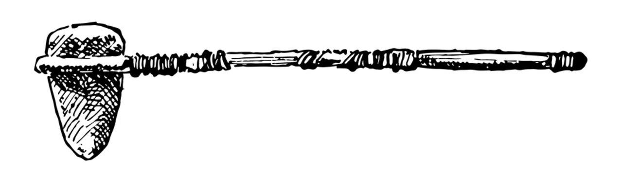 Native American Stone Ax vintage illustration.