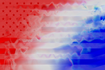An abstract American flag impression background.