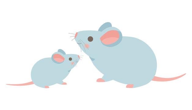 ネズミの親子