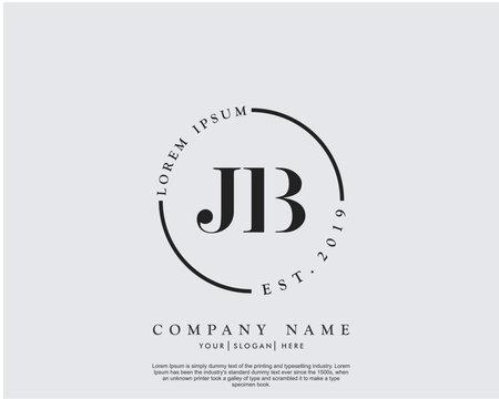Initial letter JB beauty handwriting logo vector