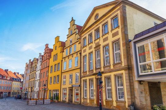 Alte Bürgerhäuser am Marktplatz von Osnabrück, Niedersachsen