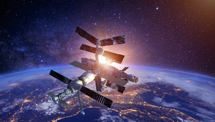Foto op Canvas Heelal sapce satellite technology background