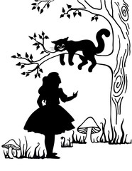 Alice and Cheshire cat. Lewis Caroll s characters in Alice in Wonderland