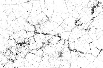 Black and white grunge background. Abstract monochrome texture of cracks, scuffs, chips, dust