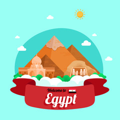 Vector travel poster of Egypt.