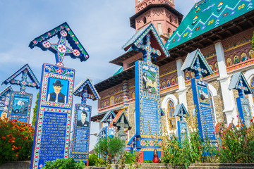 Merry Cemetery of Sapanta, Romania, Europe