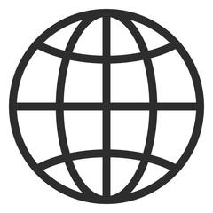 Simple line globe icon