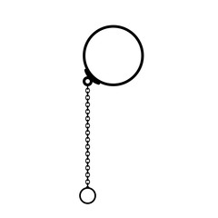 Old monocle glasses vector icon