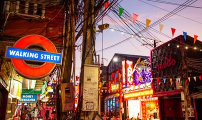 Pattaya, Thailand 2019, Walking Street - main turistic area in Pattaya