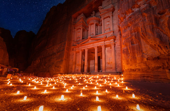 Petra by night show, Petra, Jordan