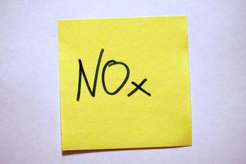 Gelbe Haftnotiz mit Schlagwort Klimawandel NOx