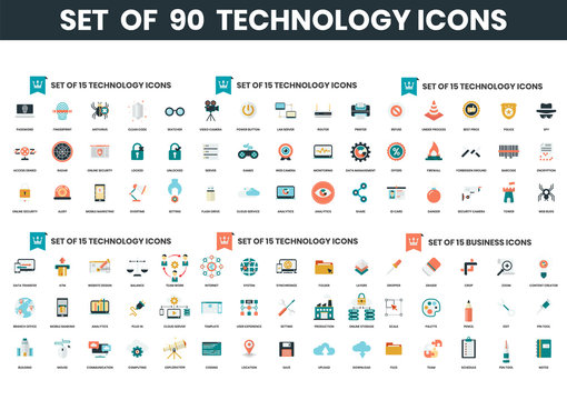 a1Business icons set for business