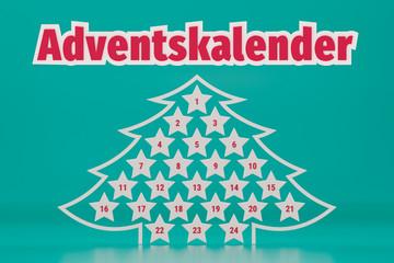 Christmas advent calendar illustration