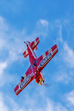 Vintage planes doing demonstrations at one air show