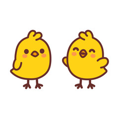 Cute cartoon baby chicken