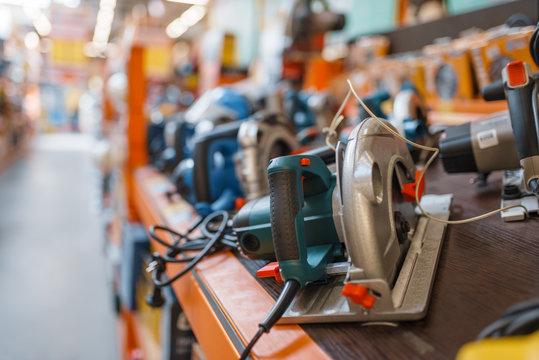 Hardware store assortment, hand circular saws