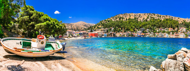 Scenic Chios island - old traditional fishing village Lagkada. authentic Greece series