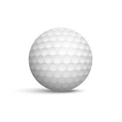 Golf ball realistic vector illustration