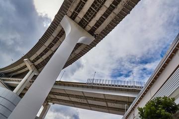 Highway overpass viaduct from below